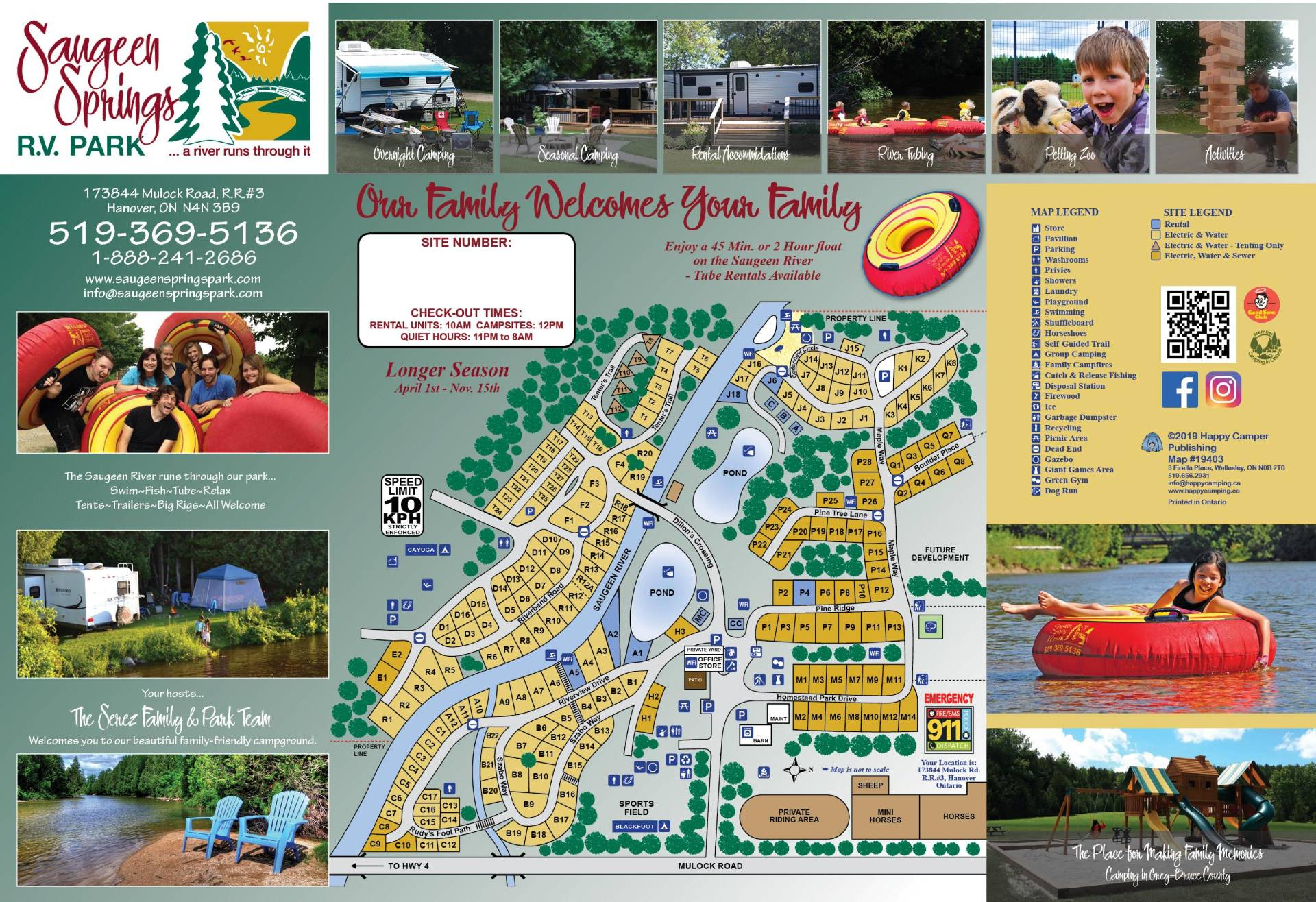 saugeen springs campground map
